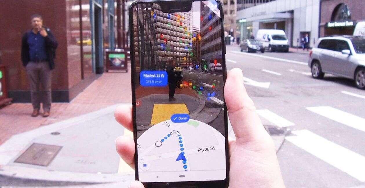 Google, mapy Google, AR Mapy, rozszerzona rzeczywistość mapy