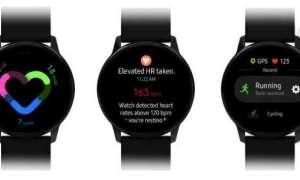 Nowe rendery pokazują One UI Galaxy Watch Active