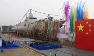 Najnowszy niszczyciel Chin Type 055 Nanchang pojawił się publicznie