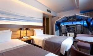 Japoński hotel lotniskowy wyposażył pokój w sprzęt do symulatora lotów