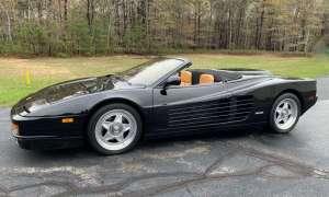 Biały kruk w postaci Ferrari Testarossa w kabriolecie na sprzedaż