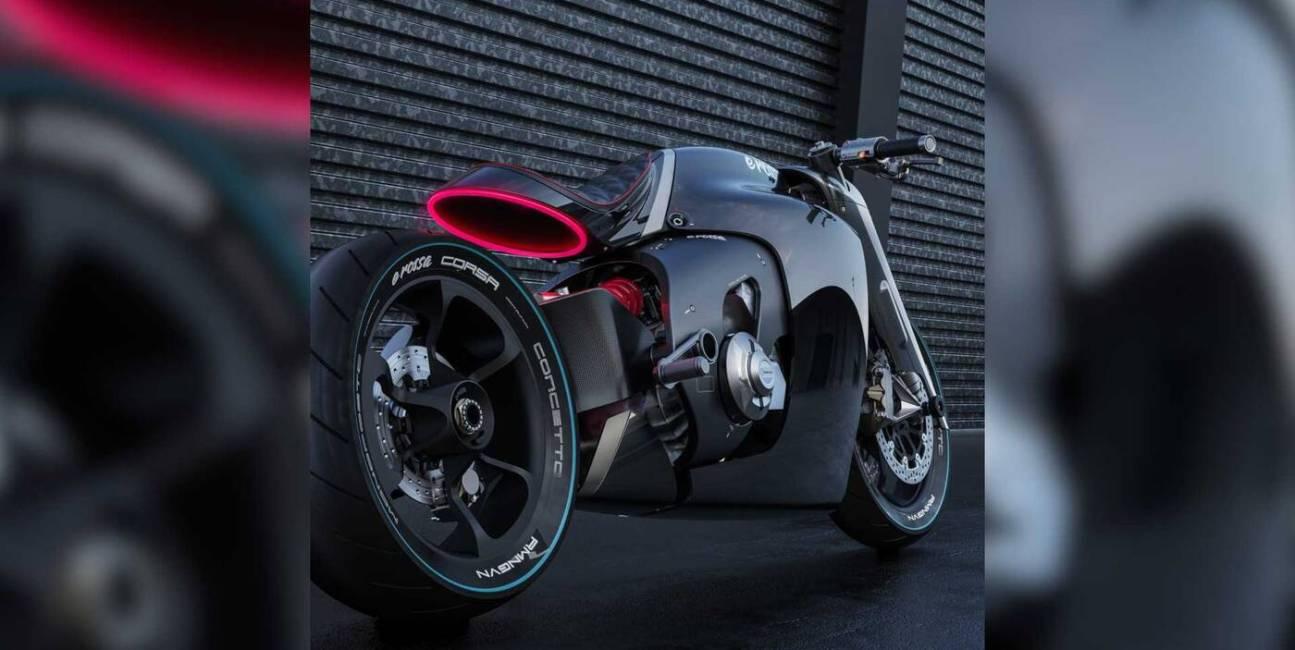 Oto koncept elektrycznego motocykla Ducati è rossa monoposto