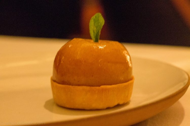 Eleven Madison Park - Cheddar Tart with Apple and Mixed Greens