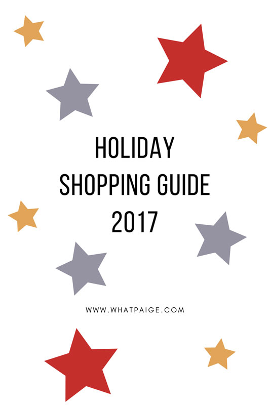 Holiday Shopping Guide 2017