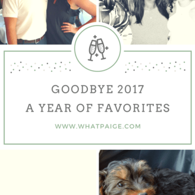 Goodbye 2017 | A Year of Favorites