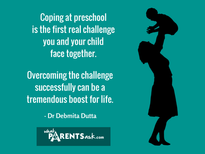 Adjusting to preschool is the first challenge in life