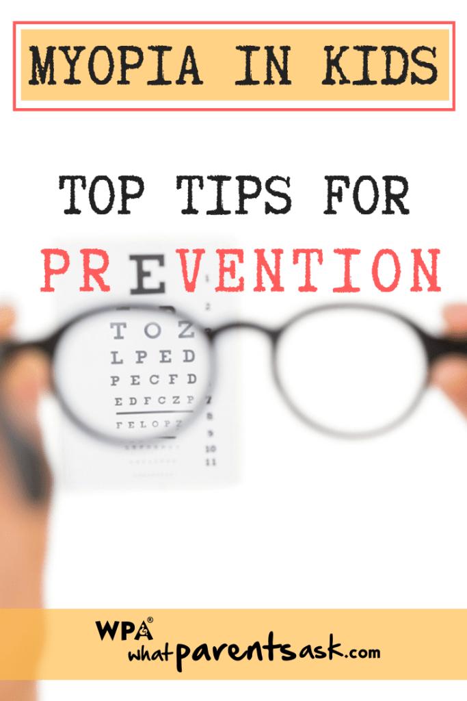 how to prevent myopia in kids