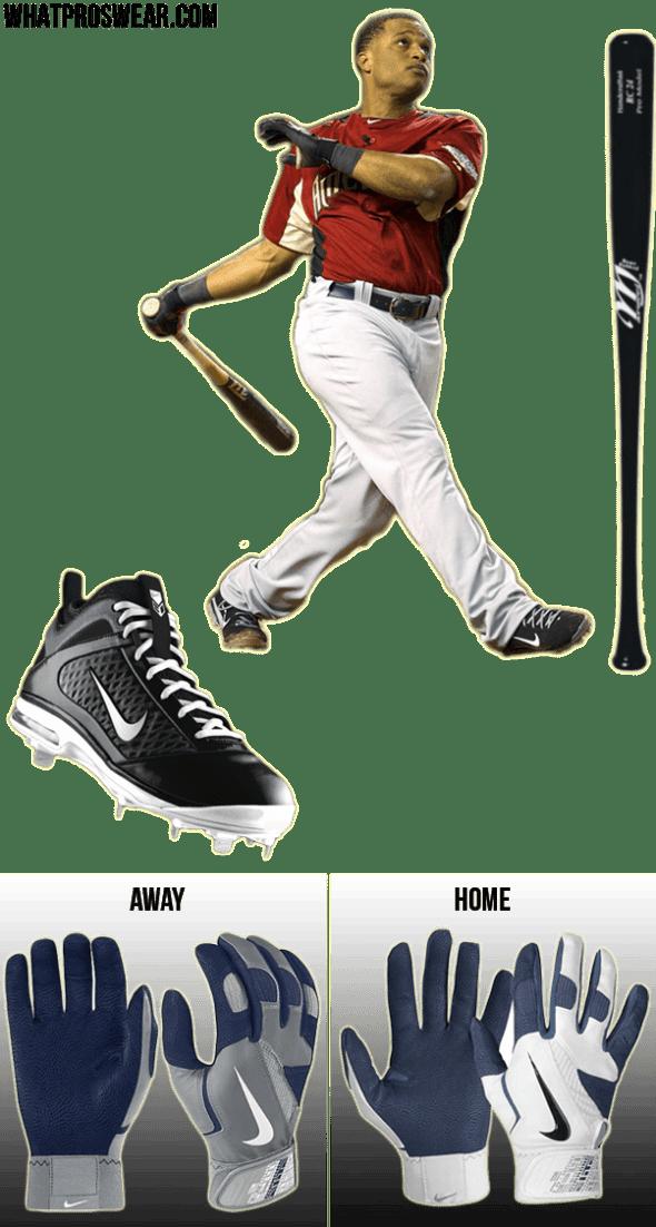 robinson cano bat, robinson cano batting gloves, robinson cano cleats, nike air max diamond elite fly, nike diamond elite pro, marucci