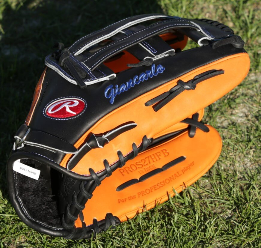 Giancarlo Stanton Rawlings Heart of the Hide PROS27HFB Glove 4