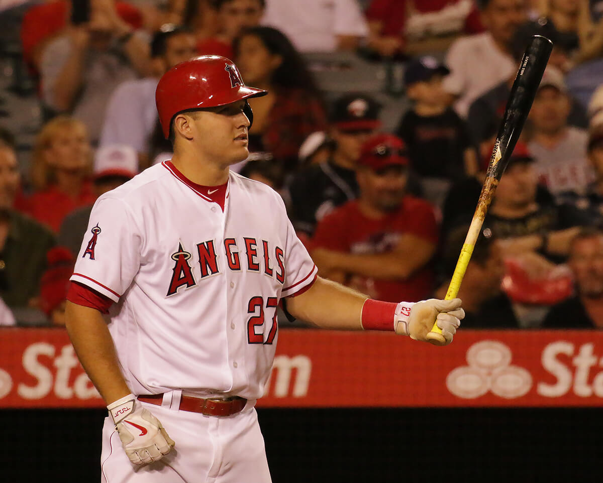 Mike Trout Old Hickory Bat with Lizard Skin Grip