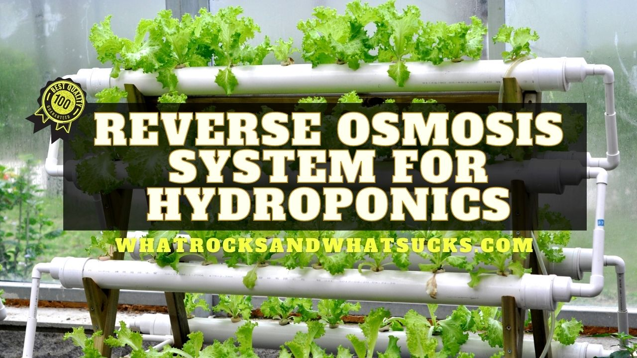 REVERSE OSMOSIS SYSTEM FOR HYDROPONICS