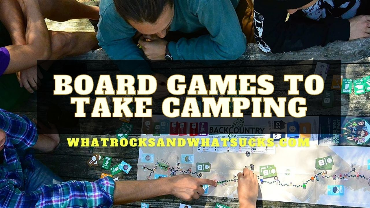 THE BEST BOARD GAMES TO TAKE CAMPING