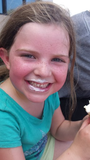 Ice Cream Face (and a little too much sun)