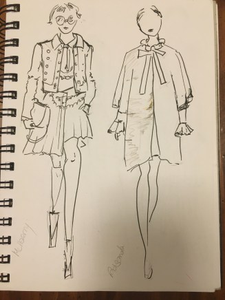 Mulberry and Roksanda from my sketchbook