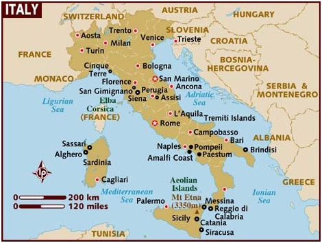What Is The National Map of Italy?