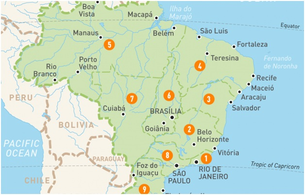 What Is The National Map of Brazil?