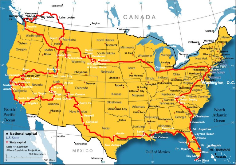 Map Of Canada New York Border.Boundary Map Of The Usa With Canada Whatsanswer