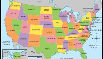 Hd Wallpaper Large State Map Of The United States WhatsAnswer - Large Image Map Of Us With Labels