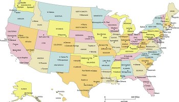 States Major Cities Map Of The USA | WhatsAnswer