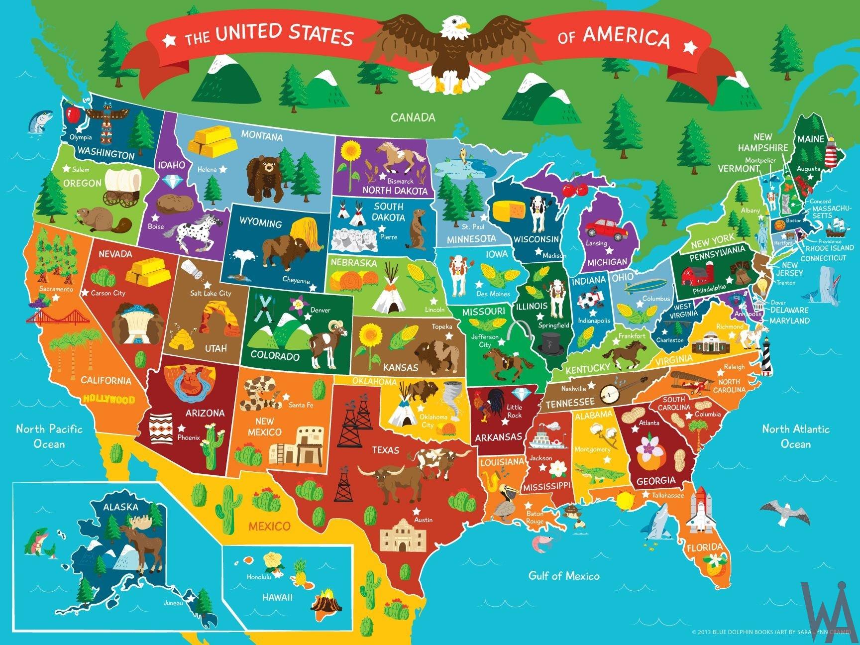 Tourist Map of the USA