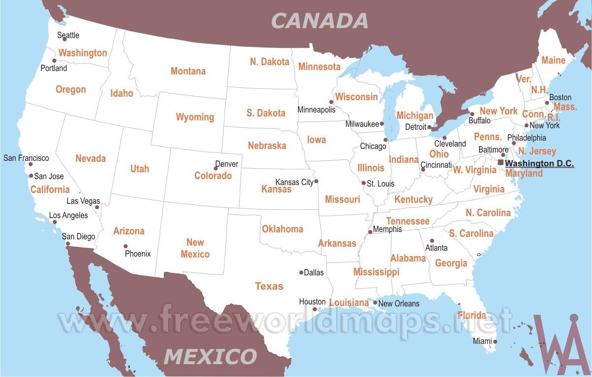 us political map
