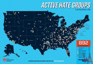 Active hate group map of the USA