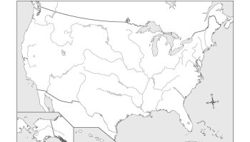 Blank river and lake map of the usa | WhatsAnswer