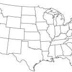 Blank Outline Map Of The Usa Whatsanswer