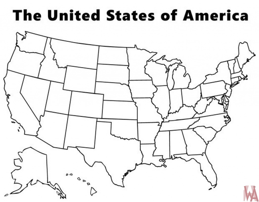 Blank outline map of the United States 2 | WhatsAnswer