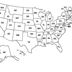 Blank Outline Map Of The United States Whatsanswer