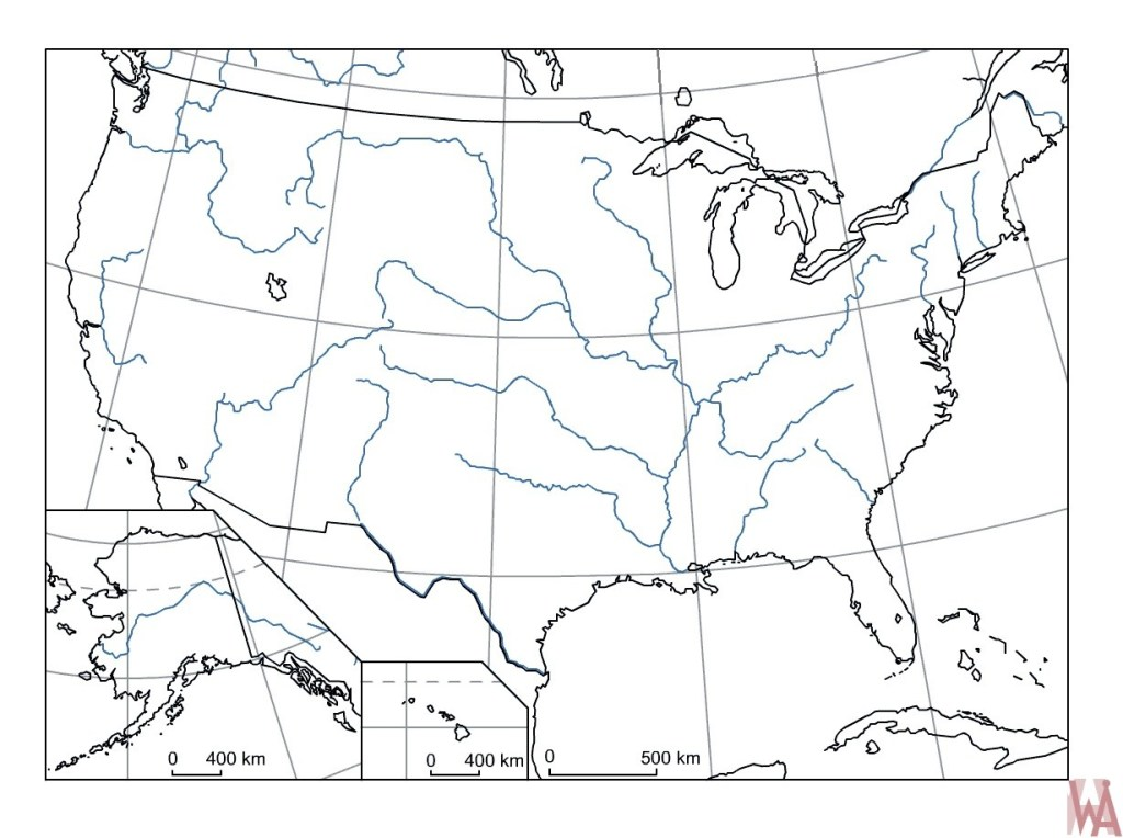 Blank outline map of the United States 26 | WhatsAnswer