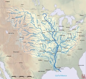 Great River Mississippi road map of the USA 4