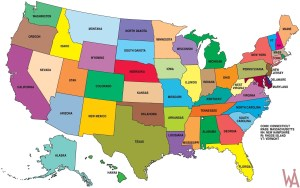 Large State Map of the USA || HD Wallpaper