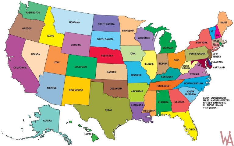 Hd Wallpaper Large State map of the United States | WhatsAnswer