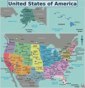 High Quality Political Map of USA