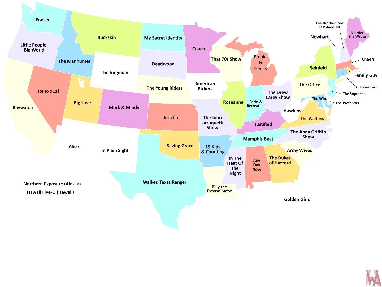 Interactive political map of USA
