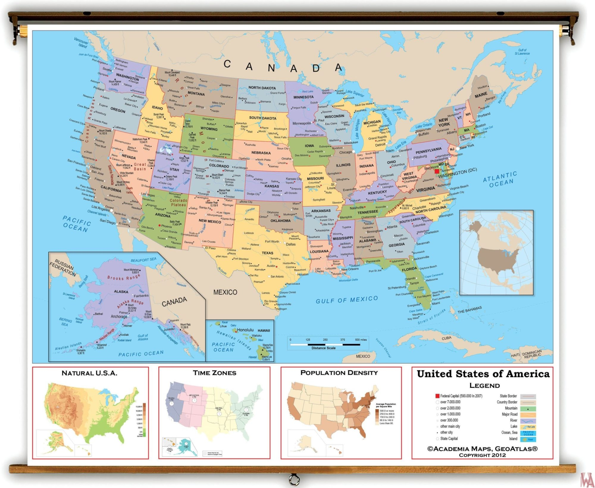 Large political map of the USA – 1