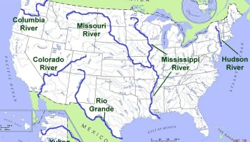 Major Rivers and lake Map of the USA 1 | WhatsAnswer