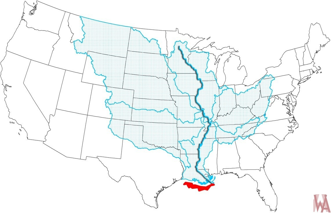 Mississippi river Coverage Map of the United States | WhatsAnswer