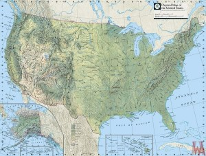 Major Lake Map of the USA | US River Map