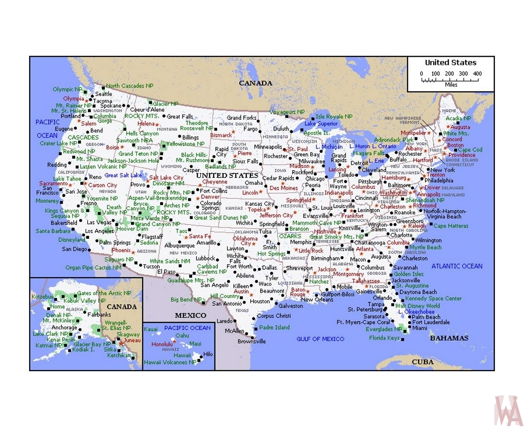 Political map of the United States | WhatsAnswer
