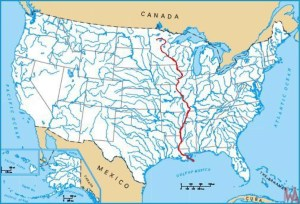 River map of USA