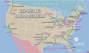 USA high-speed rail corridor