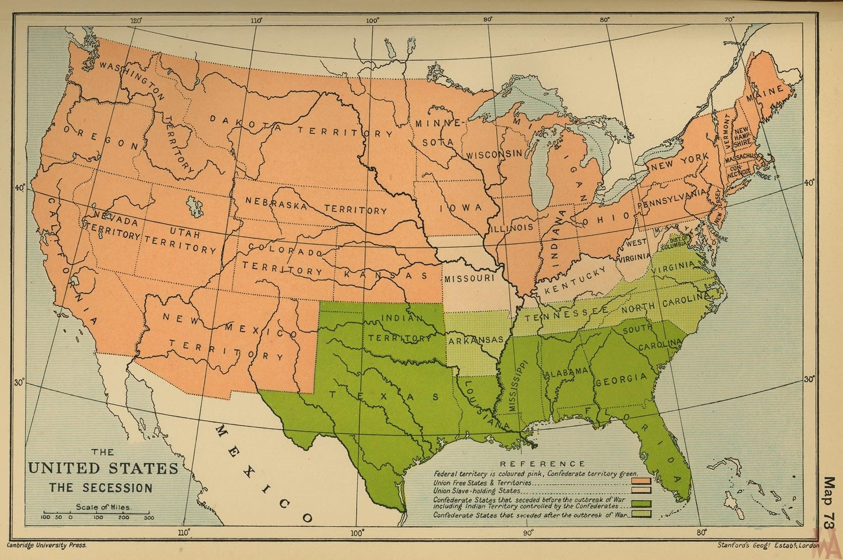 us secession map – Source Cambridge Uni Press 1973