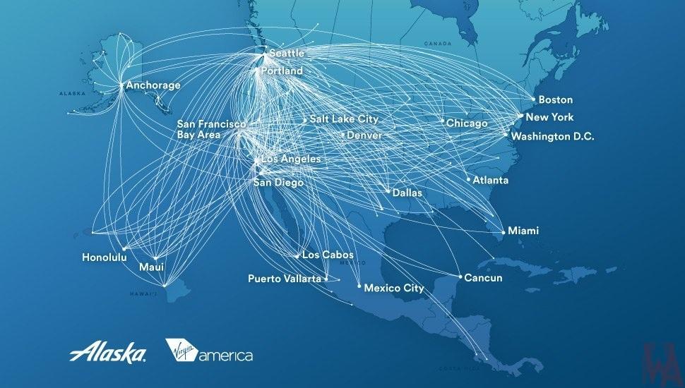 Air Route map of Alaska | WhatsAnswer
