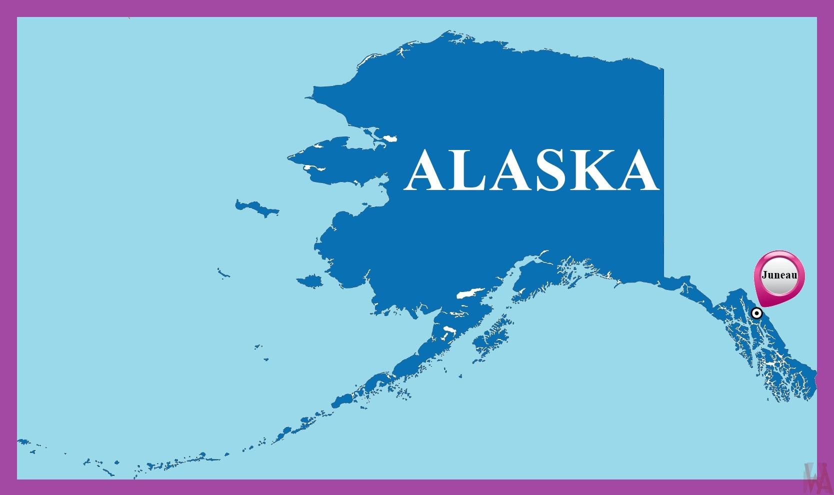 Alaska Capital Map Capital Map Of Alaska Whatsanswer