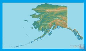 Alaska Physical Map    Physical  Map of Alaska