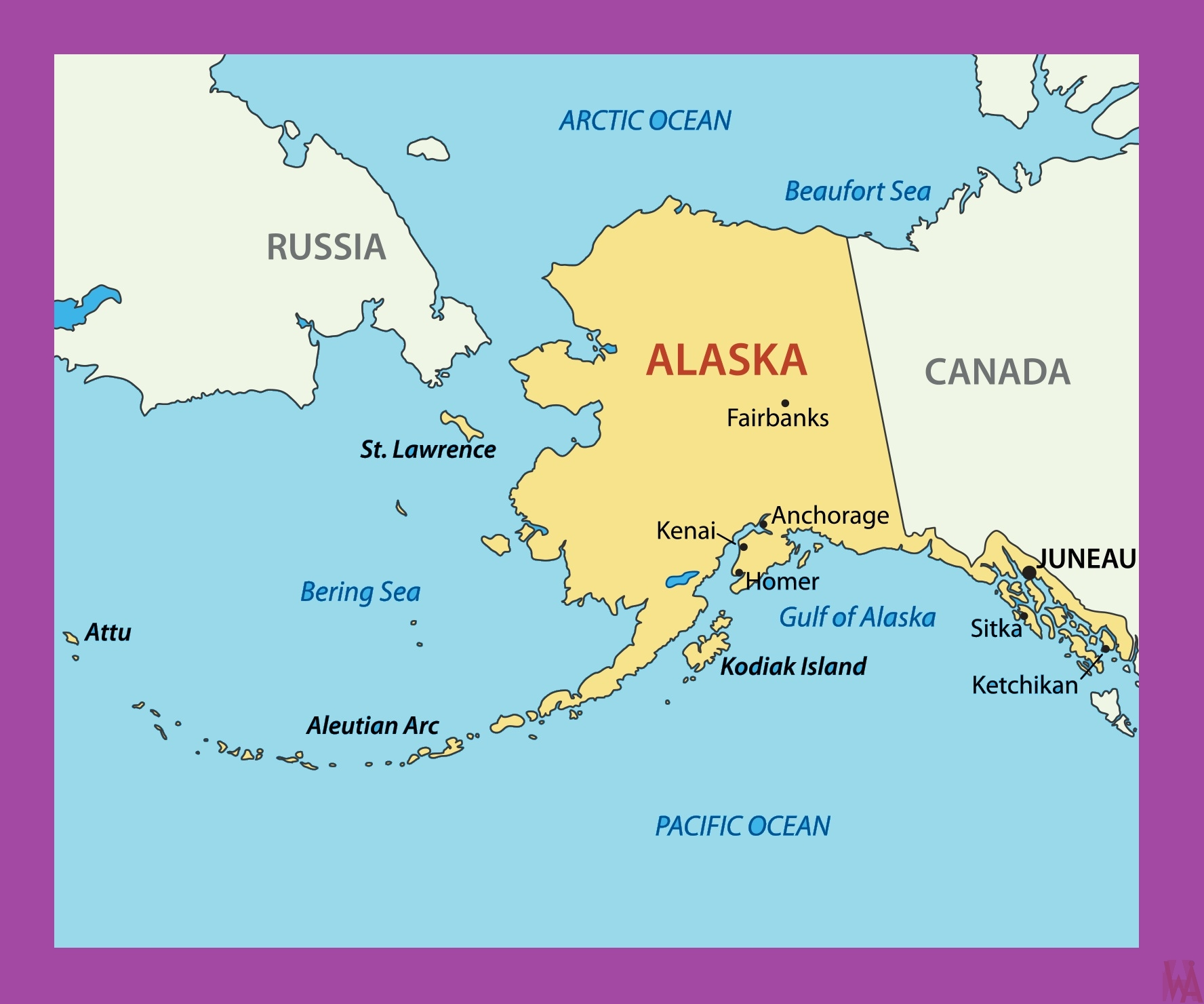 Political Map Of Alaska.Alaska Political Map Political Map Of Alaska Whatsanswer