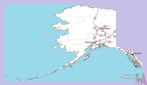 Alaska Roads Map    Roads  Map of Alaska