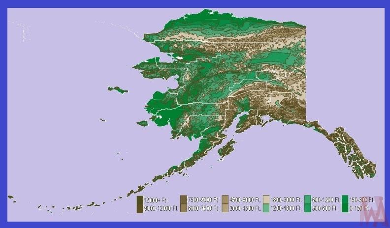 Alaska State  Map    State  Map of Alaska